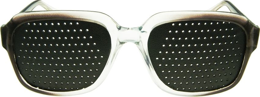 glasses with holes