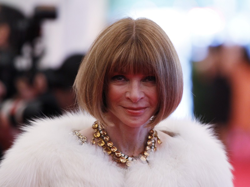 "Editor-in-chief of American Vogue Anna Wintour arrives at the Metropolitan Museum of Art Costume Institute Benefit celebrating the opening of ""Schiaparelli and Prada: Impossible Conversations"" exhibition in New York, May 7, 2012. REUTERS/Lucas Jackson (UNITED STATES - Tags: ENTERTAINMENT FASHION)"